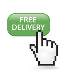 Free Delivery Button vector