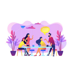 Friends meeting concept vector
