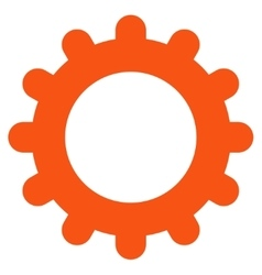 Gear flat orange color icon vector