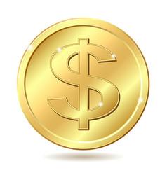 Golden coin vector