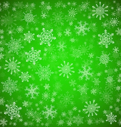 Green Christmas background with different vector