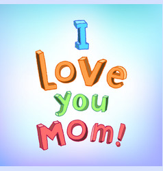 happy mother day greeting design vector image