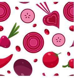healthy food seamless pattern can be used fabric vector image