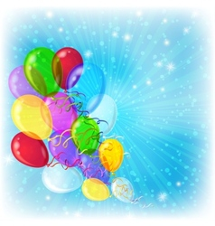 Holiday background with balloons vector image