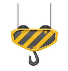 Hook for building crane 01 vector