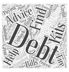 Important Advice on Debt Consolidation Word Cloud vector