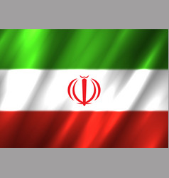 Iran flag background vector