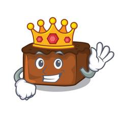 King brownies mascot cartoon style vector