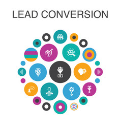 Lead conversion infographic circle concept smart vector