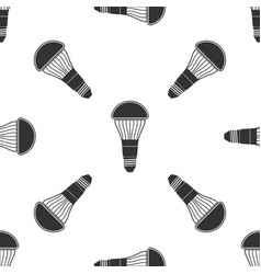 led light bulb icon seamless pattern vector image
