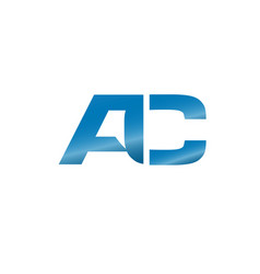 letter ac logo vector image