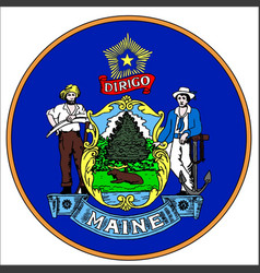 Maine state seal vector