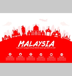Malaysia Travel Landmarks vector image