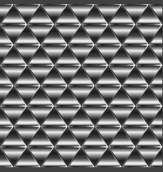 metal triangle pattern vector image