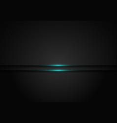 Modern black metallic layer with blue shiny light vector