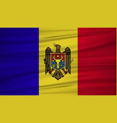 moldova flag flag of moldova blowig in the wind vector image
