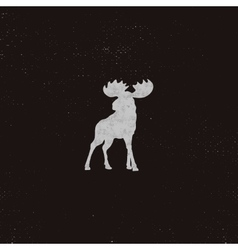 Moose icon Letterpress effect Retro moose vector image