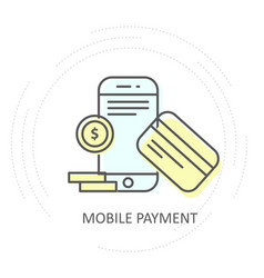 nfc wireless mobile payment icon - smartphone vector image