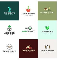 Pack farming logo vector