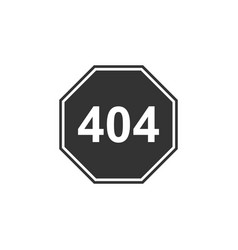 page with a 404 error icon isolated template vector image