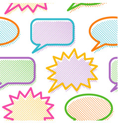 pattern with comics bubbles vector image