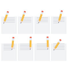 Pencil drawing lines on sheet animation sprite vector