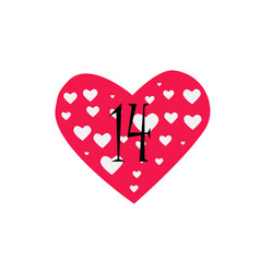 pink heart filled with small white hearts vector image