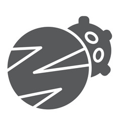 planets glyph icon space and astronomy vector image