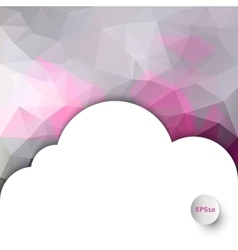 Polygonal background with cloud copyspace vector image
