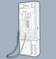 Public phone line vector