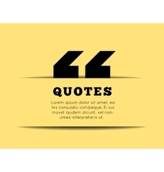 Quote blank template on yellow background vector