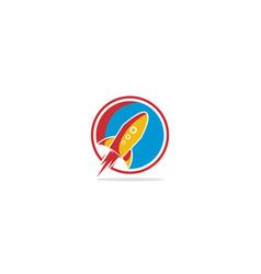 rocket launch logo vector image