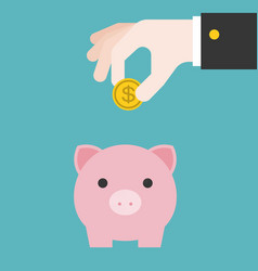 save money in piggy bank vector image