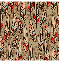 Seamless texture with feathers vector
