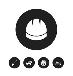 Set of 5 editable construction icons includes vector