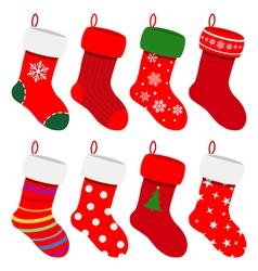 Set of Christmas socks vector