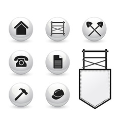 Set of icons for Scaffolding company vector image