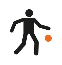 simple basketball dribbling sport figure symbol vector image