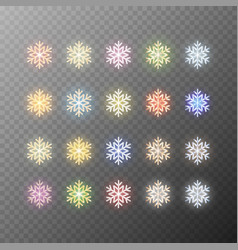 snowflakes isolated on transparent background vector image