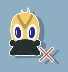 Sticker icon in flat style duck vector