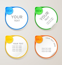 Sticker paper colors set vector image