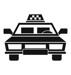 Taxi car icon simple style vector