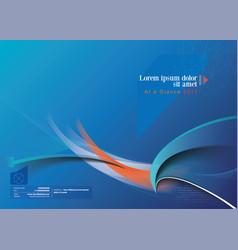 Technology brochure vector