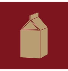 The milk box icon Packing and container symbol vector