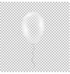 Transparent helium balloon vector