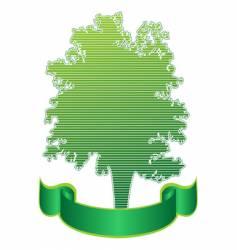 tree and ribbon vector image