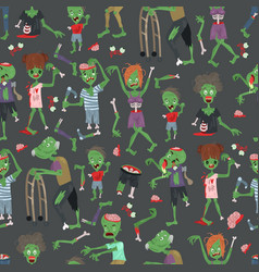 Vecctor zombie cartoon halloween magic people body vector