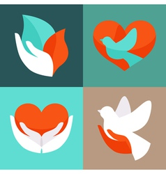 charity emblems vector image