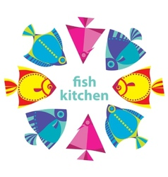 fish kitchen vector image