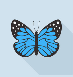 flat butterfly5 vector image vector image